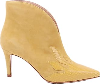 Pinko Menta Suede Ankle Boots, 37 Yellow
