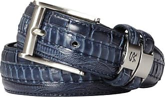 Stacy Adams Stacy Adams Mens 35mm Snakeskin with Leather Embossed Croc and Lizard, Blue, 34