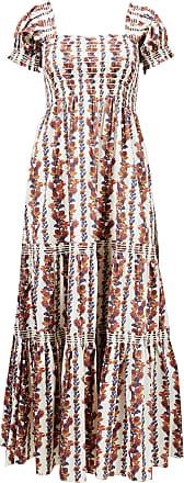 Tory Burch Kleid mit floralem Muster Crème/Multi