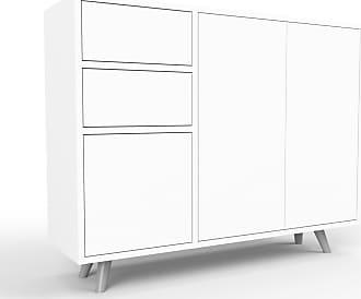 MYCS Sideboard Weiß - Sideboard: Schubladen in Weiß & Türen in Weiß - Hochwertige Materialien - 116 x 91 x 35 cm, konfigurierbar