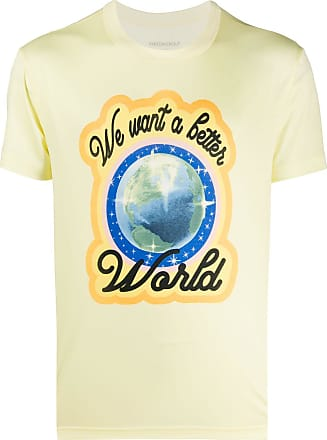 Viktor & Rolf T-shirt We Want a Better World con stampa - Di colore giallo