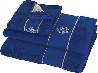 Roberto Cavalli Gold Towel - Blue - Bath Sheet