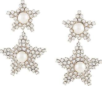Jennifer Behr Par de brincos Twyla com aplicação de cristais - Prateado