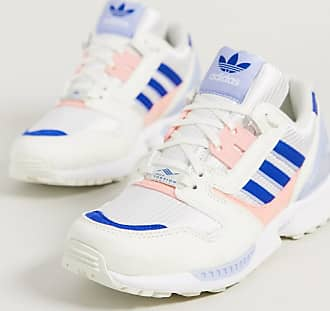 adidas Originals ZX 8000 trainers in pink and blue-White