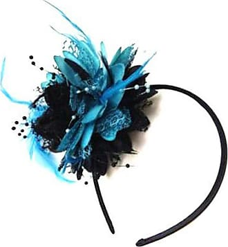Caprilite Turquoise and Black Fascinator on Headband for Ascot Weddings