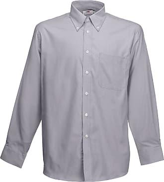 Fruit Of The Loom Oxford Long Sleeve Shirt SS114 (3XL, Oxford Grey)