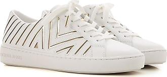 Michael Kors Sneaker für Damen, Tennisschuh, Turnschuh Günstig im Sale, Optik Weiss, Leder, 2019, 35 35.5 36 36.5 38.5 39 40