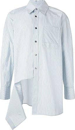 Wooyoungmi Camiseta listrada com recorte vazado - Verde