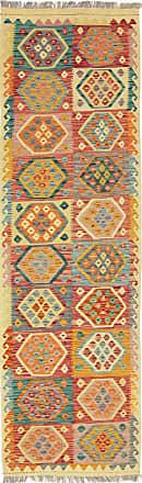 Nain Trading 296x87 Kilim Afghan Rug Runner Beige/Dark Brown (Afghanistan, Handwoven, Wool)