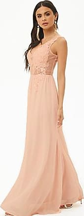 Forever 21 Forever 21 Soieblu Floral Embroidered Gown Blush/blush