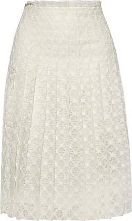 Philosophy di Lorenzo Serafini Philosophy Di Lorenzo Serafini Woman Pleated Crocheted Skirt Ivory Size 44