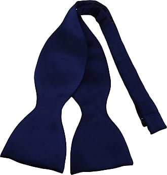TigerTie bow tie aus 100% silk, color dark blue Marine self-bow-tie - silk bow tie