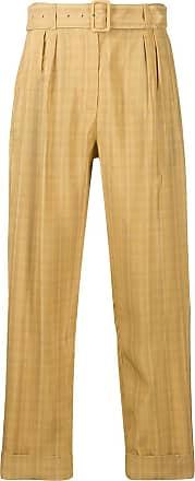 Department 5 Calça cintura alta com cinto - Neutro