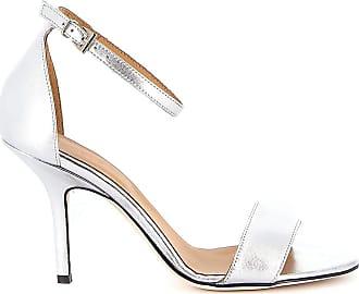 Dondup Fashion Woman WS179Y00708DXXXDD952 Silver Leather Sandals | Spring Summer 20