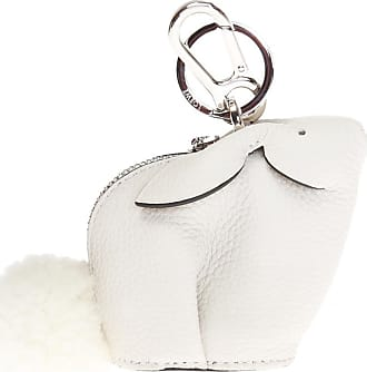 Loewe Rabbit Motif Key Ring Womens White