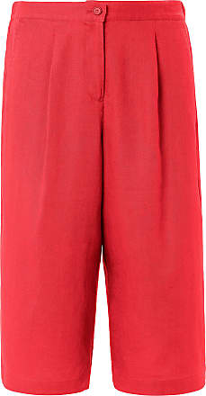 Peter Hahn Cropped trousers in 100% linen Cornelia fit Peter Hahn red