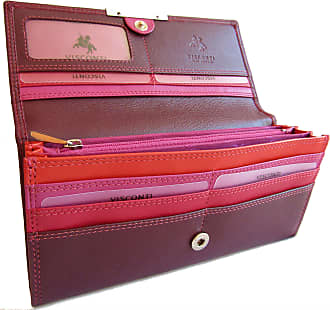 Visconti New Gorgeous Plum Multi Visconti soft leather purse style. (Plum Multi R11 Paloma)