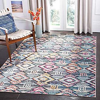 Safavieh MAD455Z-5 Madison Collection MAD455Z Black and Orange Area (53 x 76) Rug