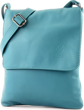 Craze London Genuine Italian Leather Verapelle Large Cross body Messenger Bag/Womens Ladies Verappele hand Bags (Turquoise)