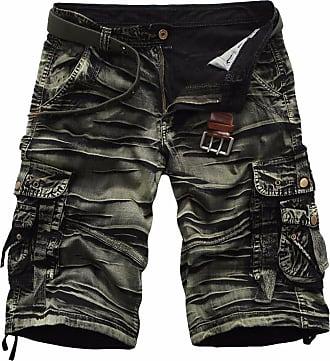 QIYUN.Z Mens Big-Tall Camouflage Camo Cargo Shorts