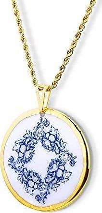 Design Medalhas Pingente Mandala Blue ouro 18k