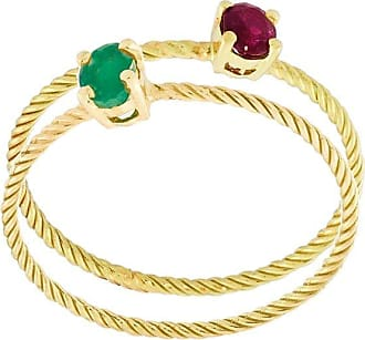 Wouters & Hendrix Emerald & Ruby set of rings - Metallic