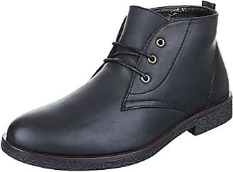 Ital-Design Stiefeletten Herren Schuhe Desert Boots Blockabsatz Moderne  Schnürsenkel Boots Schwarz, Gr 41 d2715a20d8
