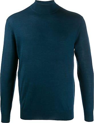 N.Peal mock neck jumper - Blue