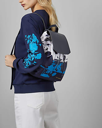 Ted Baker Bluebell Drawstring Backpack in Dark Blue AMARILY, Womens Accessories