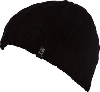Heat Holders Heat Holders - Mens Thermal Fleece Ribbed knitted winter hat 3.4 tog - One Size (Black)