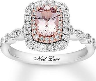 aadf49b3f Neil Lane Morganite Engagement Ring 5/8 ct tw Diamonds 14K Gold