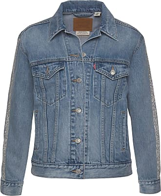 Levi's Womens Womens Diamante Ex-Boyfriend Trucker Jacket in Denim - 10
