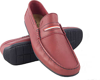 Zerimar Leather Boat Shoes for Men | Boat Shoes Men | Nautical Shoes Men | Moccasins Man | Large Sizes 46-50 | Colour: Red | Size: UK 14 EU 48