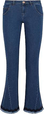 See By Chloé See By Chloé Woman Frayed Picot-trimmed Mid-rise Kick-flare Jeans Mid Denim Size 25