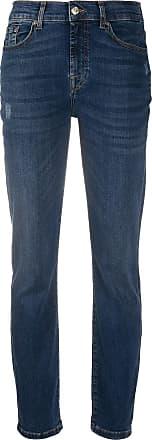 7 For All Mankind Calça jeans slim com cintura alta - Azul