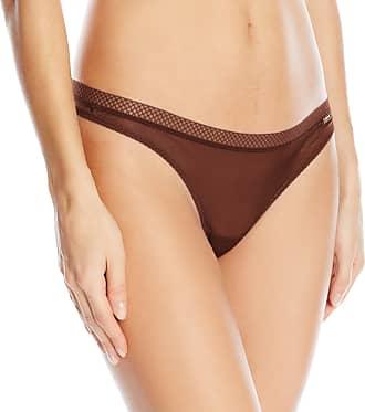 Gossard womens6276Glossies Thong Thong Underwear - brown - Medium
