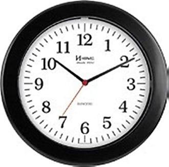 Uhren Herweg RELÓGIO DE PAREDE ANALÓGICO MODERNO MECANISO SWEEP HERWEG PRETO