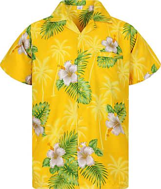 V.H.O. Funky Hawaiian Shirt, Flower, yellow, 12XL