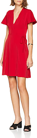 French Connection Womens Alexia Crepe Jrsy VNCK WRAP DR Dress, Pink (Mimosa), 8 (Size:-8-)