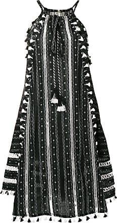 Dodo Bar Or Vestido midi bordado - Preto