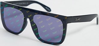 Quay Jaded flat brow sunglasses in black