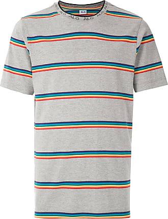 À La Garçonne T-shirt listrada com logo - Cinza