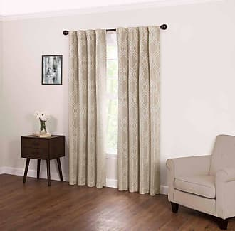Eclipse Zana Trellis Fashion Blackout Window Curtain Ecru - 16673040X084ECR