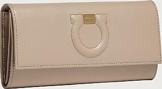 Salvatore Ferragamo Women Gancini Continental wallet Beige