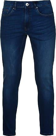 Firetrap Mens Skinny Jeans Tonal Stitching Denim Trousers Casual Pants Bottoms Mid Wash 36 L32