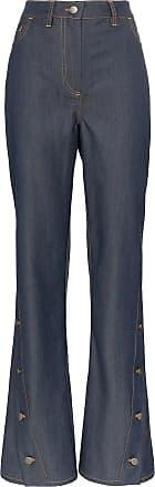 Wright Le Chapelain Calça jeans flare - Azul