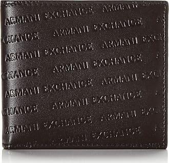 A X Armani Exchange Mens Bifold W/Coin Pocket Bi-Fold Wallet, Black (Nero-Black), 2.5x11.3x9.8 Centimeters (B x H x T)
