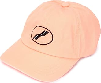 We11done embroidered baseball cap - ORANGE