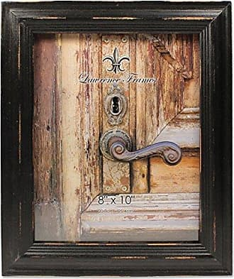 Lawrence Frames 8x10 Weathered Black Wood Picture Frame