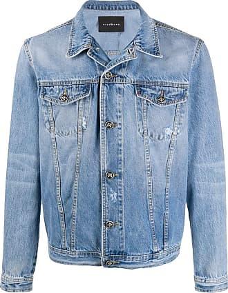 John Richmond Jaqueta jeans com efeito destroyed - Azul